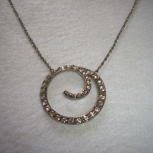 Monet Rhinestone Eternity Style Necklace
